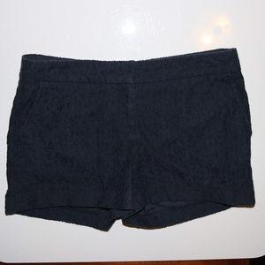 Cynthia Rowley Blue FloralLace Shorts Cotton Nylon
